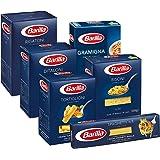 Barilla Pasta Variety Pack, Multipack con 6 tipi - Rigatoni, Tortiglioni, Risoni, Gramigna, Spaghetti, Ditaloni Rigati, 6 con