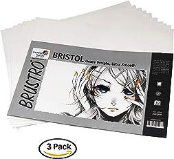 Brustro Ultra Smooth Bristol Multimedia Sheets 250 GSM