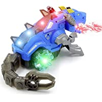 Zest 4 Toyz Realistic Design Mechanical Robotic Dragon Toy, Walking Dragon Dinosaur Toy with Fire Breathing Water Spray…
