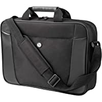 HP Essential Top Load Case for Laptops upto 15.6 inch with External Pocket and Crossbody Strap (Black)