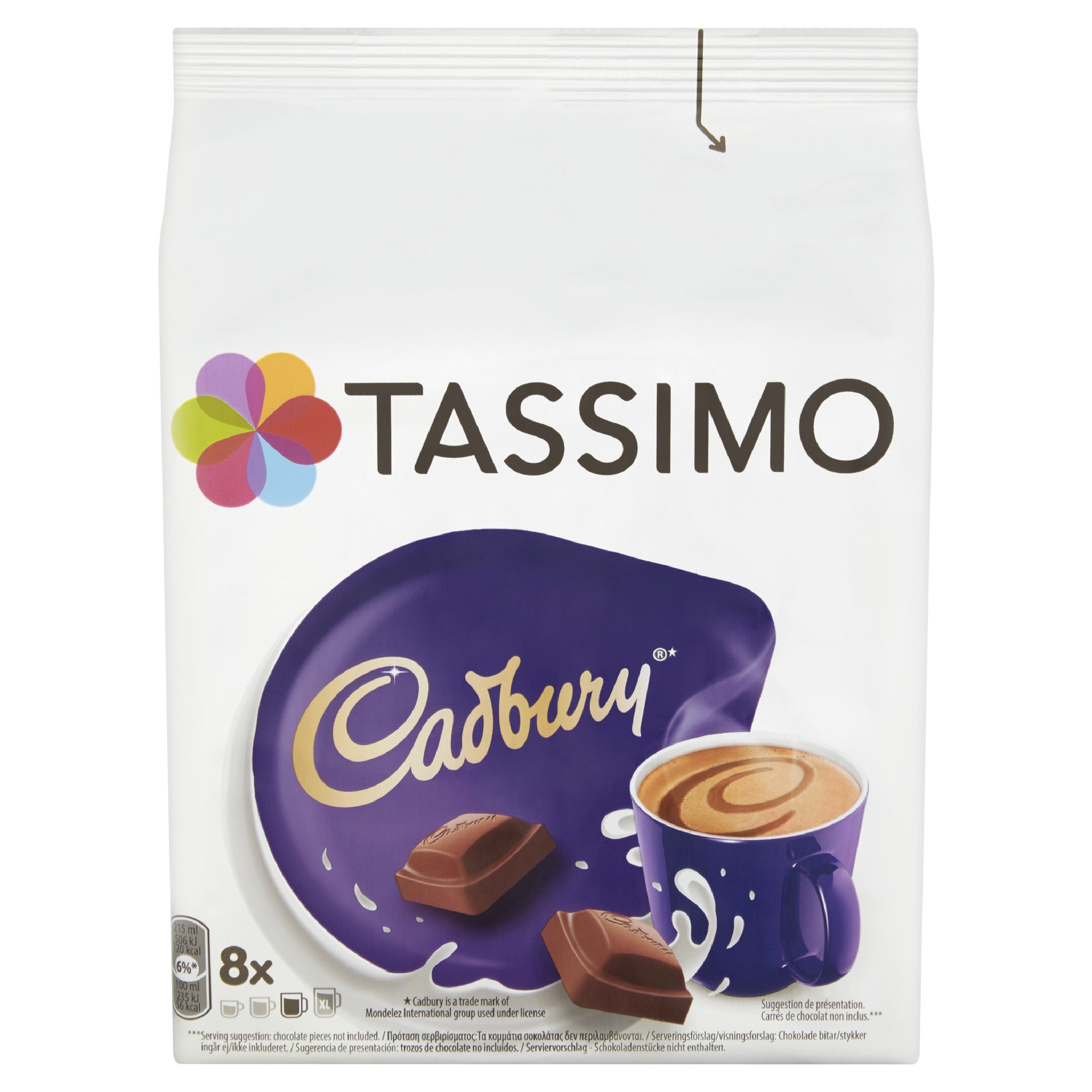 Tassimo T-Disc coffee pods and capsules (a chocolate notes coffee with aromas of dried fruit and chocolate)
