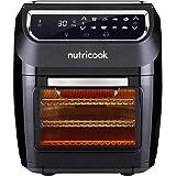 Nutricook Air Fryer Oven, 1800 Watts, Digital/One Touch Control Panel Display, 8 Preset Programs, 12 Liters, Black