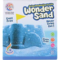 RATNA'S Wonder Sand 500 Grams for Play. Smooth Sand for Kids (Blue 500 Grams), ONE Big Mould Inside (Without Tray)
