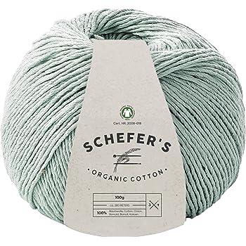 SCHEFER\'S 100g Bio Baumwolle - GOTS zertifiziert Garn - Strickwolle ...