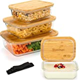 Récipient en Verre boîtes Alimentaires pour Conservation Lot de 8 Pièces (4 récipients + 4 couvercles) Boîtes en Verre avec C