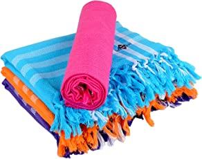 Sathiyas 480 GSM 4 Piece Cotton Bath Towel (Multicolour)