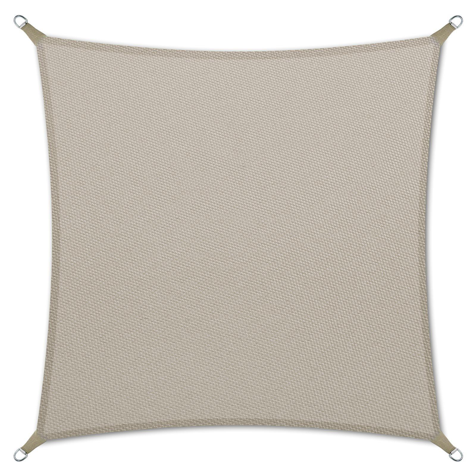 casa pura Sonnensegel wasserabweisend imprägniert | Testnote 1.4 | quadratisch, 3x3m | UV Schutz | viele Farben (grau)