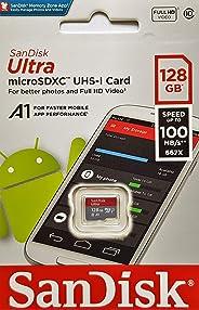 SanDisk 128GB Ultra microSDXC U1, C10, A1, UHS-1, 100MB/s R, 4x6, 10Y - SDSQUAR-128G-GN6MN