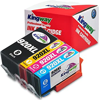 Amazon buy hp 920xl officejet ink cartridge black online at kingway 1 set replacement for hp 920xl ink cartridge compatible with hp officejet 6500 6500a 7500 7500a 7000 6000 inkjet printer fandeluxe Images