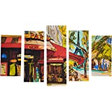 Pure Decorative MDF Painting, 5 Pieces - 110x60 cm