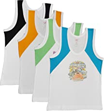 UCARE Boys Regular Fit Cotton Vest (5002-Pack of 4)