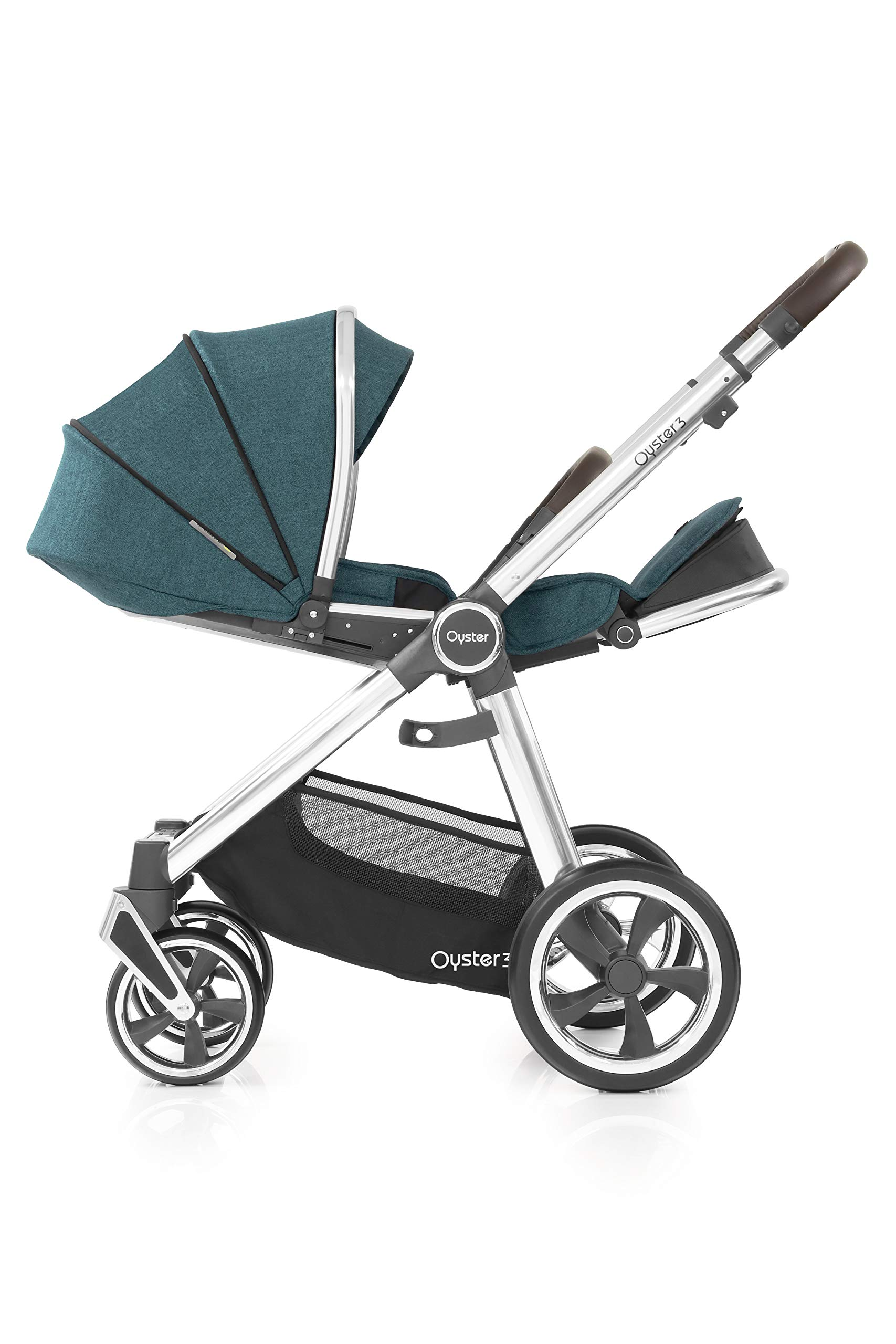 Babystyle Oyster3 Pushchair in Peacock Mirror Chassis Babystyle  5