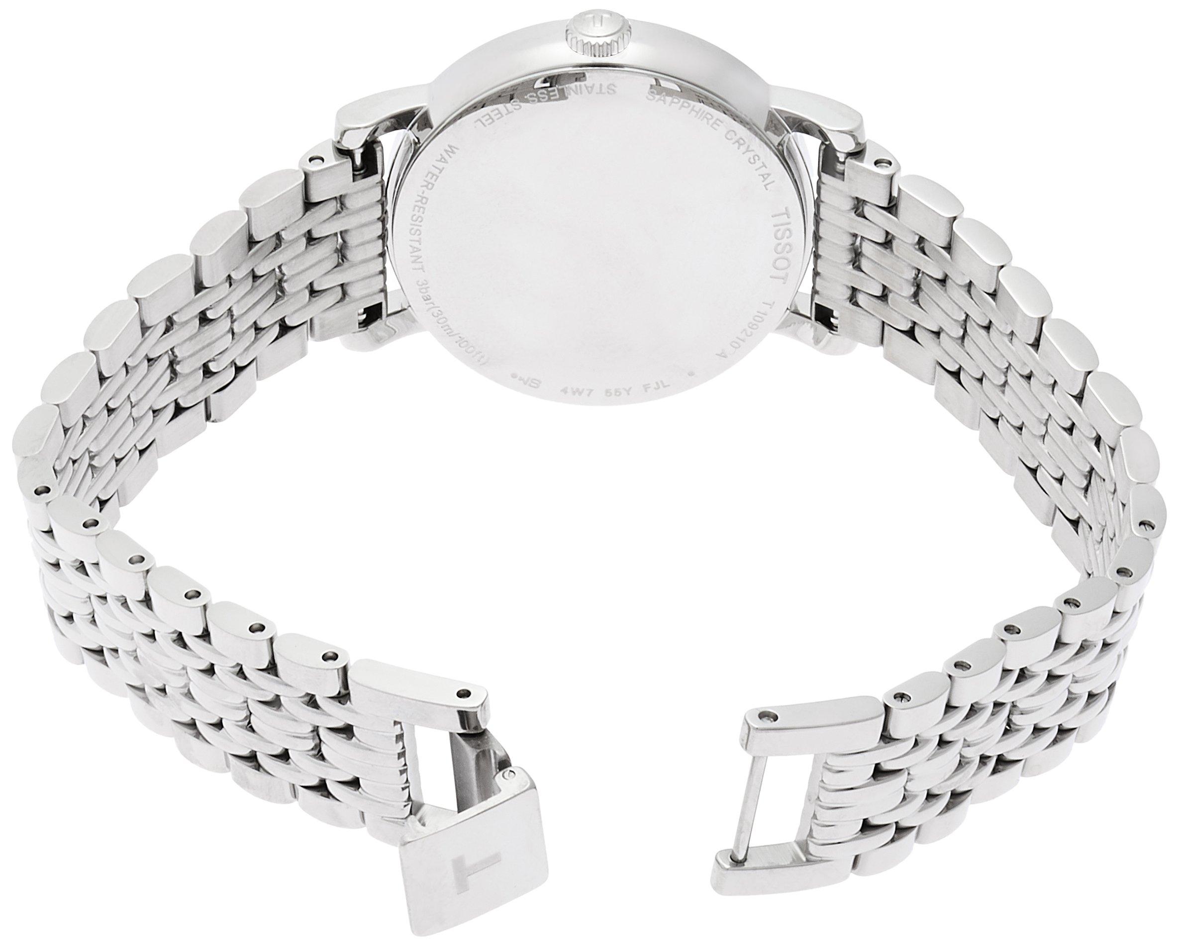 Tissot Reloj Analógico para Mujer de Cuarzo con Correa en Acero Inoxidable T1092101103100