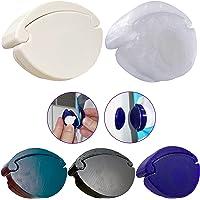 CURTIES Support de rideau de douche avec fermeture anti-éclaboussures - Magnétique - Accessoire de douche - 2 clips, 2…