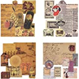 Mayplous 160 Feuilles de Papier à Motif Vintage Papier de Scrapbooking Papier décoratif Papier Kraft avec Impression Recto di