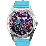 TAPORT® - Reloj de piel azul para los fans de Fortnite, color azul