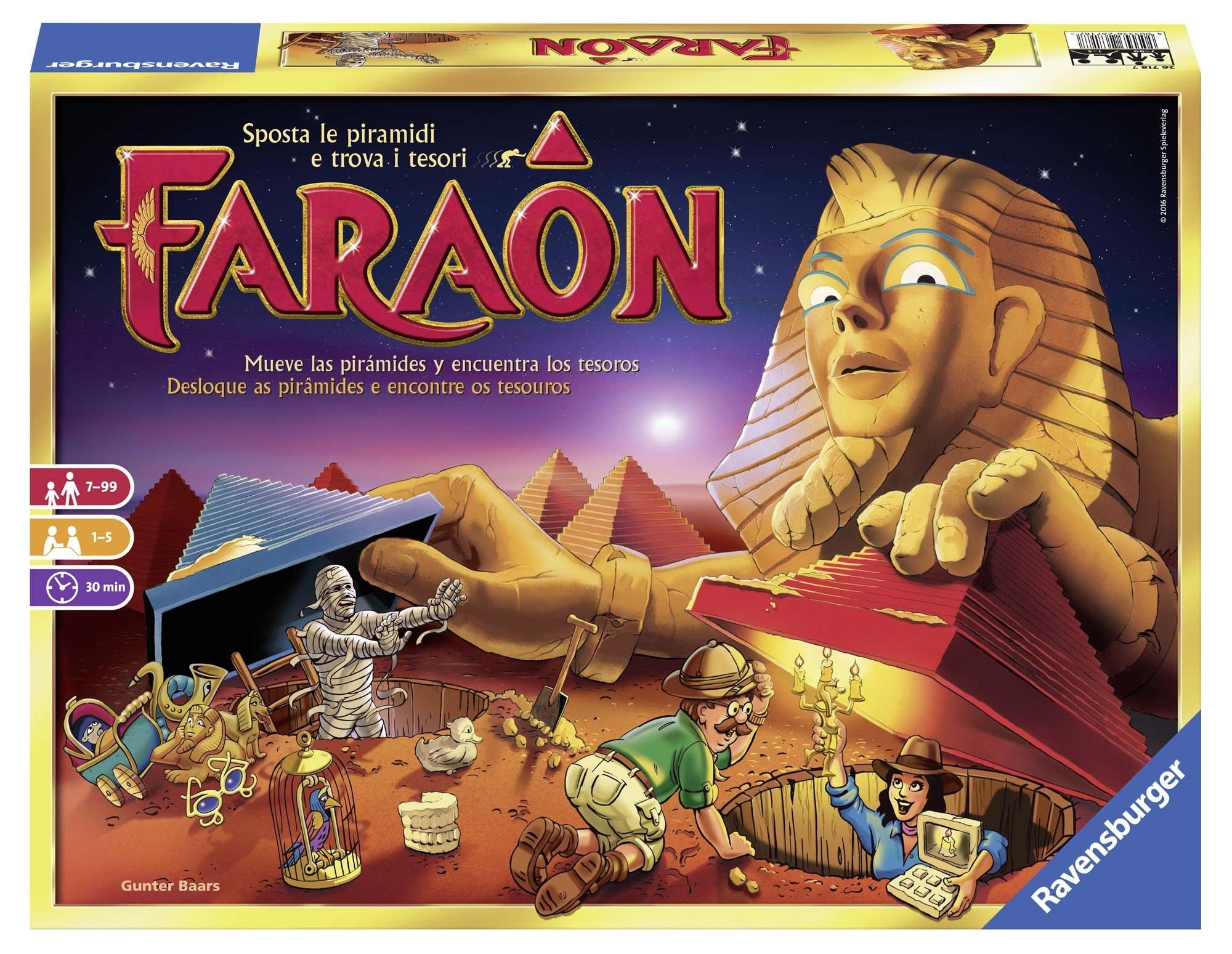 Ravensburger 26718 Faraon, Gioco da Tavolo, per 1-5 Giocatori, età Consigliata 7+ 1 spesavip