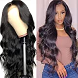 Geeta Hair Lace Front Wigs 13×4 Brazilian Body Wave Human Hair Lace Front Wigs for Woman Pre Plucked 150% Density Natural Col