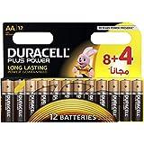 Duracell Plus Power Type AA Alkaline Battery - 12 Pack