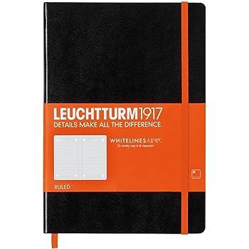 Leuchtturm1917 345311 Carnet de note Medium 249 pages numérotées A5 Noir/Orange