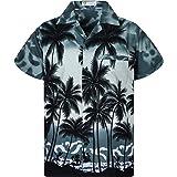 Original King Kameha: Funky camiseta hawaiana para hombre, talla XS-12XL, manga corta, bolsillo frontal con estampado hawaian