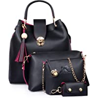 Speed X Fashion Combo Set Pu Leather Shoulder Bags For Women Set Of 4 (SRTY000GFR2)