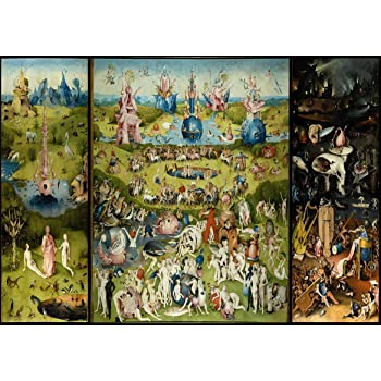 Hieronymus Bosch The Garden of Earthly Delights. Heaven/Hell Fine Art  Print/Poster. Size A2 (59.4cm x 42cm)