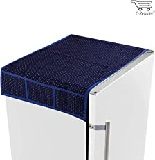 E-Retailer Traditional Purple Dotted Design Fridge Top Cover With 6 Utility Pockets