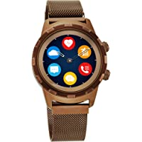 Titan Connected X Brown Hybrid Smartwatch for Men with Heart Rate Monitor + Full Touch Display + Interchangeable strap -90116QM02