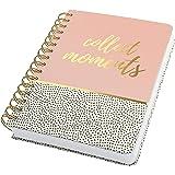 SIGEL JN601 Carnet de notes à spirale premium, 16,2 x 21,5 cm, pointillé, couverture rigide, motif petits pois, rose/noir/bla