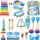 Wesimplelife - Jouets instruments de musique en bois pour tout-petits - instruments de percussion - jouets éducatifs préscola