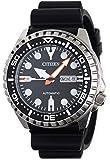 Citizen Herren Analog Automatik Uhr mit Kautschuk Armband NH8380-15EE
