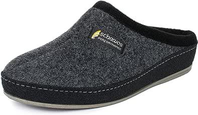 Schawos, pantofole da uomo in feltro, di qualità, made in Germany, con plantare anatomico e ammortizzazione attiva del tallone.