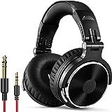 OneOdio Over Ear Hoofdtelefoon met Kabel, 50mm Driver, Bass Sound, 6.35 & 3.5mm Jack, Share Port, Gesloten DJ Koptelefoon voo