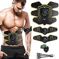 WARDBES Elettrostimolatore Muscolare, Elettrostimolatore per Addominali, EMS Stimolatore Muscolare, USB Ricaricabile ABS…