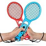 Tennis Racket for Nintendo Switch, Keten Twin Pack Tennis Racket for Nintendo Switch Joy-Con Controllers for Mario Tennis...
