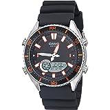 ساعة كاسيو كاجوال للرجال مصنوعة من المعدن والراتنج - اللون: أسود (AMW-720-1AVCF)