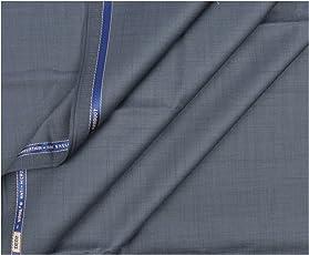 Vimal Light Grey Premium Men's Unstitched Trouser Fabric - 1.2 Meters & 1.3 Meters , Trouser Fabric For Men