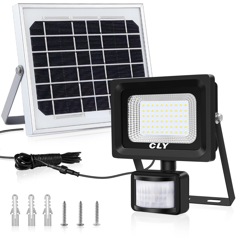 Sensore Di Movimento Per Luci Esterne.Cly Faretto Solare Con Sensore Di Movimento 60 Led Luce Solare Da Esterno Faro Pannello Solari Impermeabile Ip66 Lampada Solare Da Esterno Con