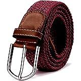 Tygskärp elastiskt skärp flätat och elastiskt skärp för kvinnor och män längd 100 cm till 130 cm