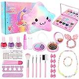 Joyhoop Maquillaje para Niñas, Maquillaje Niñas Cosméticos Lavables, Regalo de Princesa para Niñas en Fiesta Cumpleaños y Jug