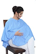Mum's Caress Nursing Covers/Feeding Cover/Maternity Top/Baby Cover/Poncho - Blue Polka