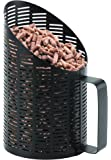 LES ATELIERS DIXNEUF 101.10390N3 Pelle à granulés PULSE Noir, Diamètre 12 cm/Hauteur 20 cm