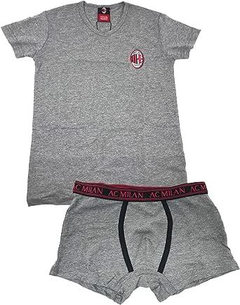 A.C. Milan Underwear Set - T-Shirt + Boxer Shorts - Official Product