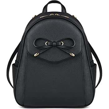 Black Small Leather Backpack Purse for Women Cute Fashion Backpacks ... 8944bf67e012a