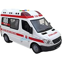 FunBlast Ambulance Toy for Kids with Light & Siren Sound Effects – Pull Back Friction Power Ambulance Vehicle Toy for…