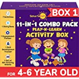SmartoKids Activity Box for 4, 5 & 6 Year Old Baby Boys & Girls (11-in-1 Set) – Learning & Educational Gift Pack of Play-base