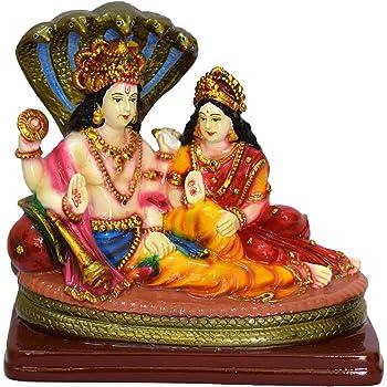 SUNNY CORPS Vishnu Laxmi Stone Idol, 15x14x7.5cm, Multicolour