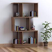 @home by Nilkamal Checkers 3 Tier Book Shelf (Walnut)