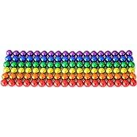Billes magnétiques 5mm   Aimants puissants pour tableau et réfrigérateur   100 pièces (Arc en ciel)
